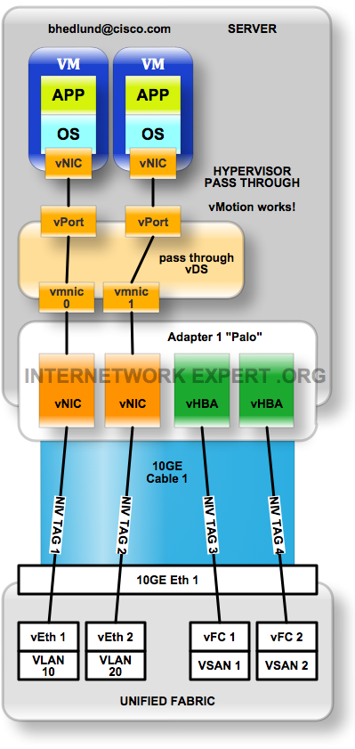 NIV hypervisor pass through switching
